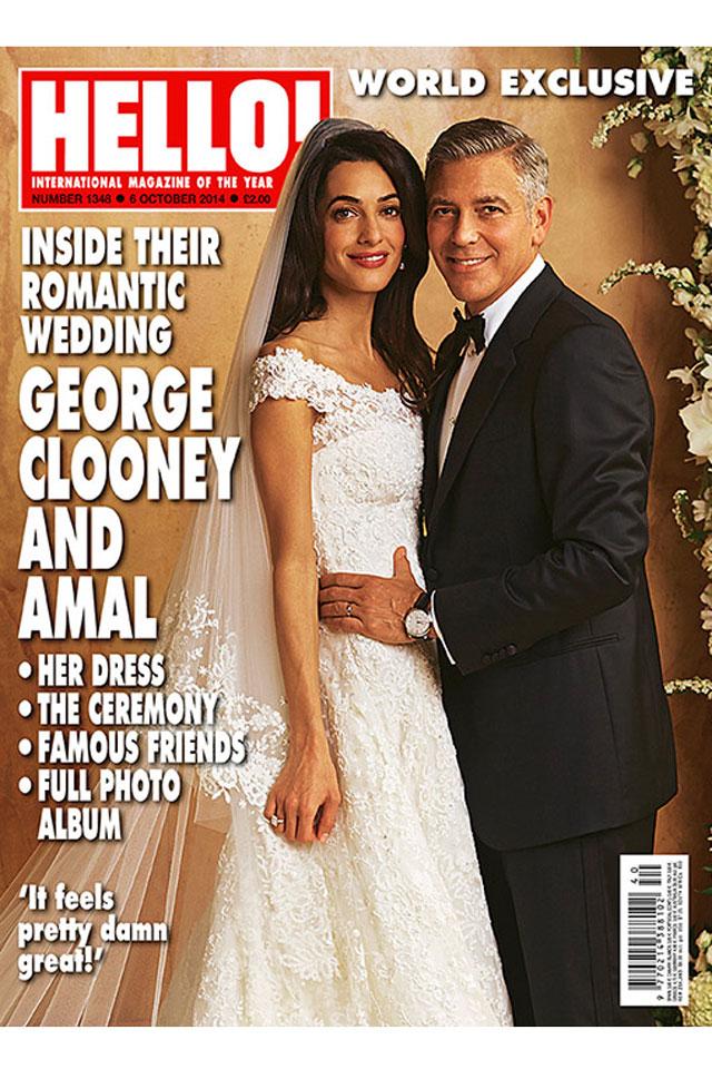 George Clooney wedding pics Hello! magazine