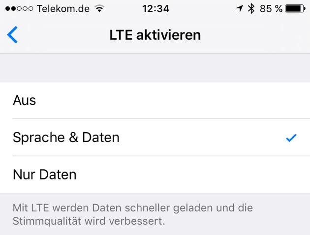 iOS 9.3 bringt VoLTE für Telekom-Kunden