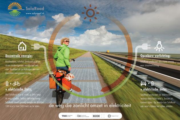 ソーラーパネルを敷き詰めたオランダの自転車用道路が、期待を上回る電力を発電