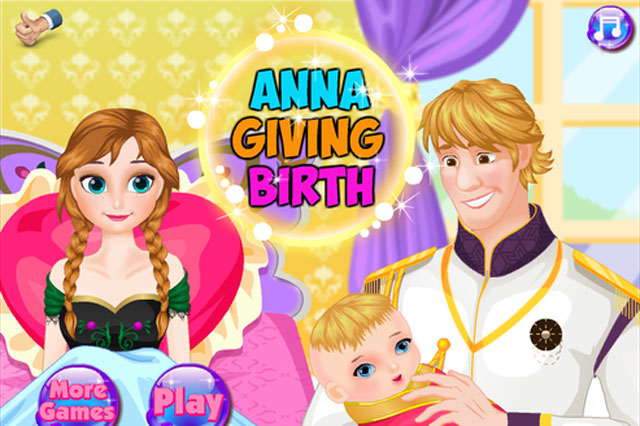 Help Frozen's Anna give birth via caesarean in disturbing app