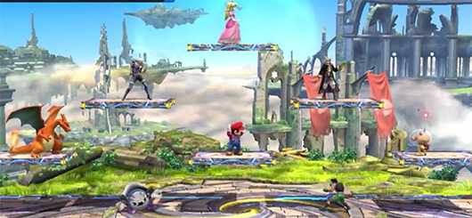 Up to 8 players brawl in Super Smash Bros. Wii U
