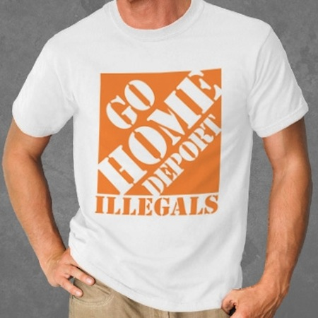 racist republican shirts, most racist republican t-shirts, go home deport illegals shirt