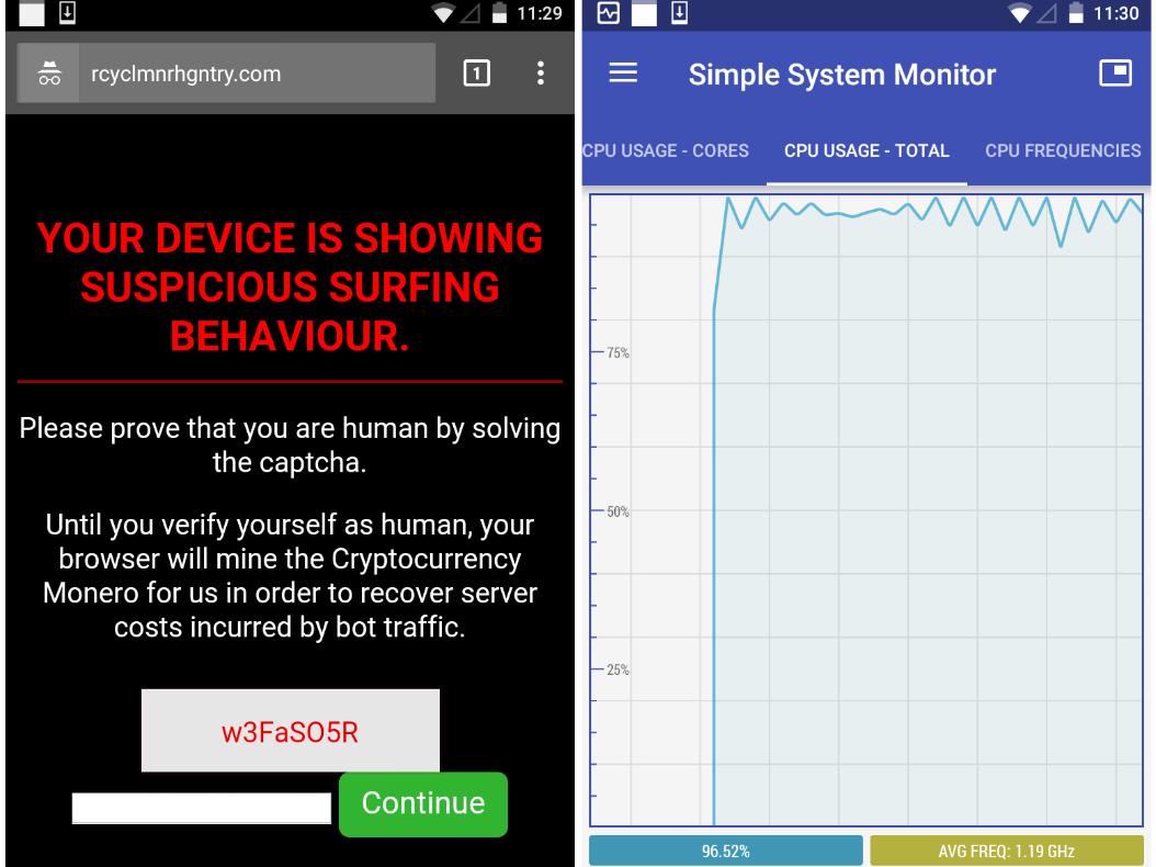 Millionen Android-Geräte als Krypto-Mineure missbraucht