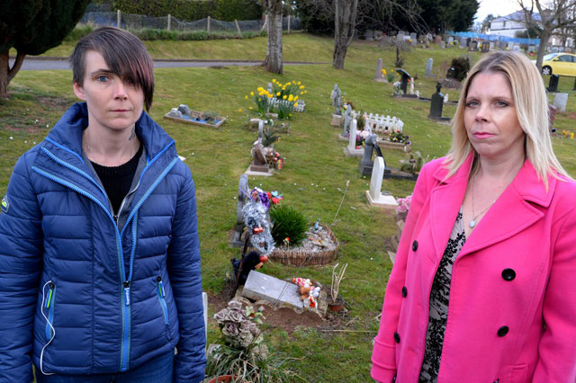 Police hunt vandals who trashed graves of babies