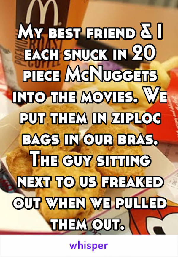 The Absurd Ways People Have Snuck Stuff Into The Movie Theater