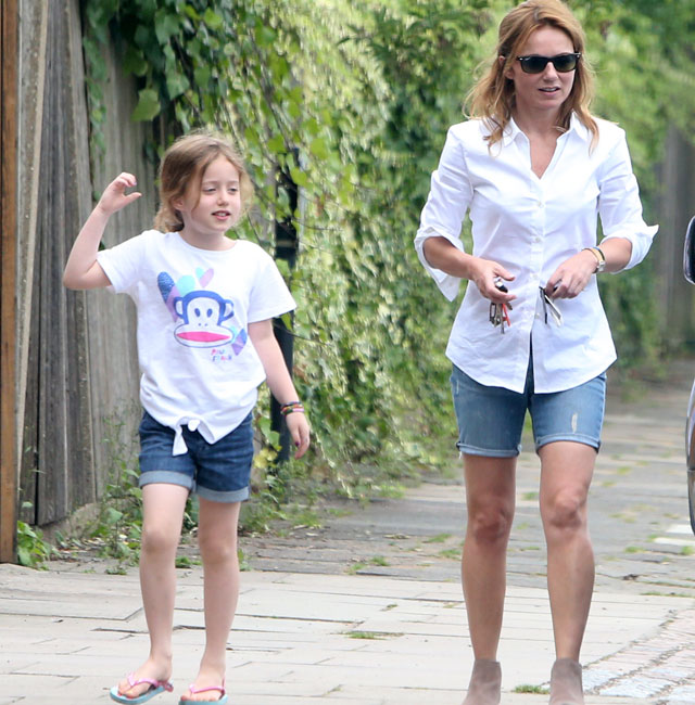 Geri Halliwell enjoys sunshine with mini-me daughter Bluebell Madonna
