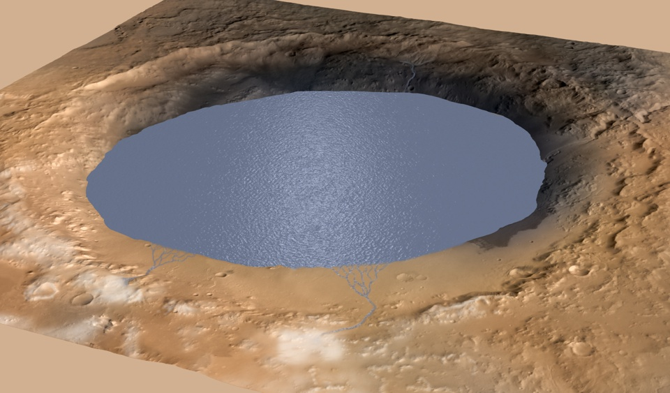 NASA: Mars' Gale Crater held a huge lake for millions of years