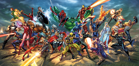 Marvel Heroes art