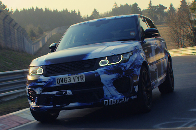 Land Rover Range Rover Sport SVR at the Nürburgring
