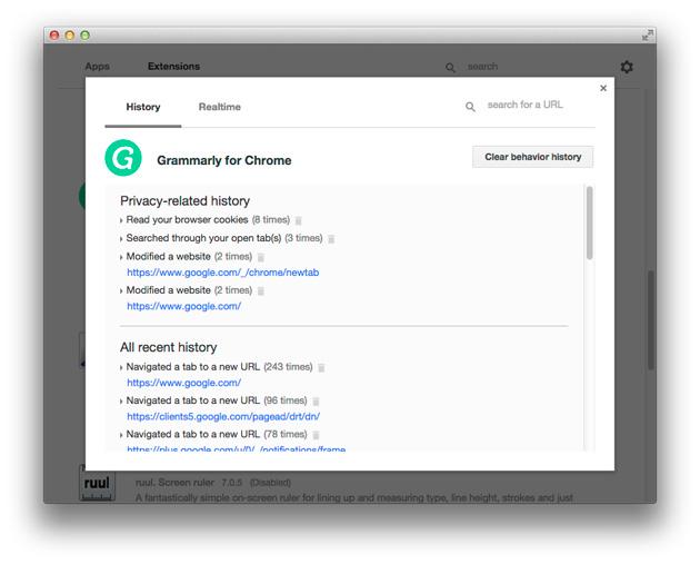 Google's Chrome app developer tool