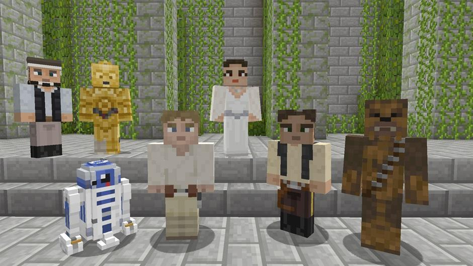 Minecraft players on Xbox One getting Star Wars player skins