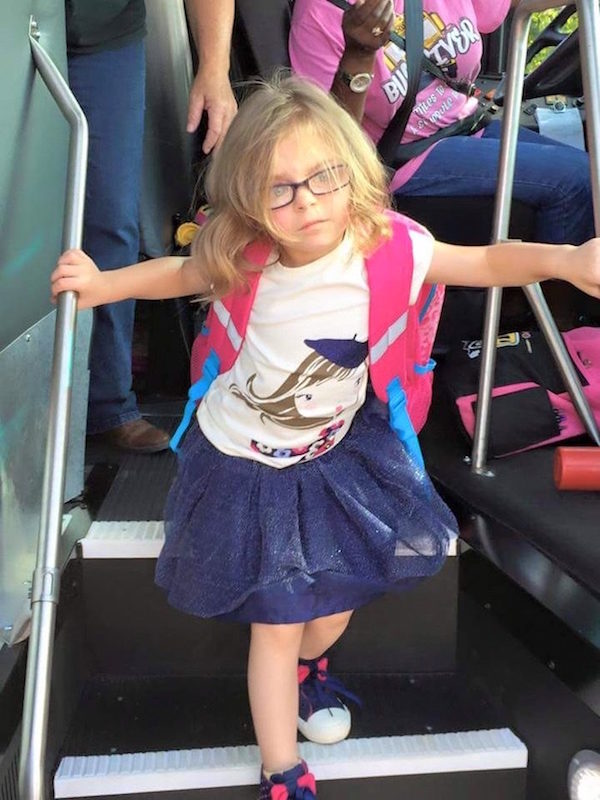 This Little Girl's Before And After Pictures Of Her First Day Of School Is So Damn Relatable