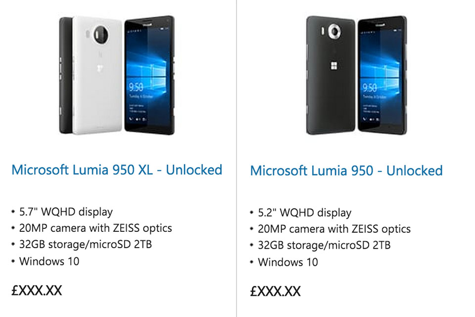 Microsoft's Lumia 950 and 950 XL