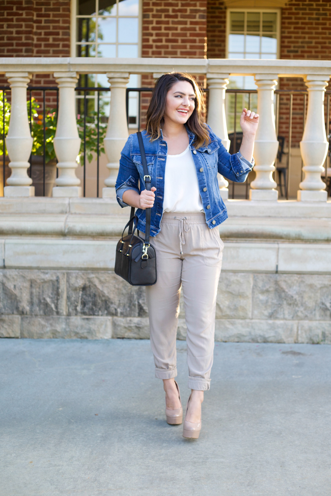 Street style tip of the day: Taupe joggers
