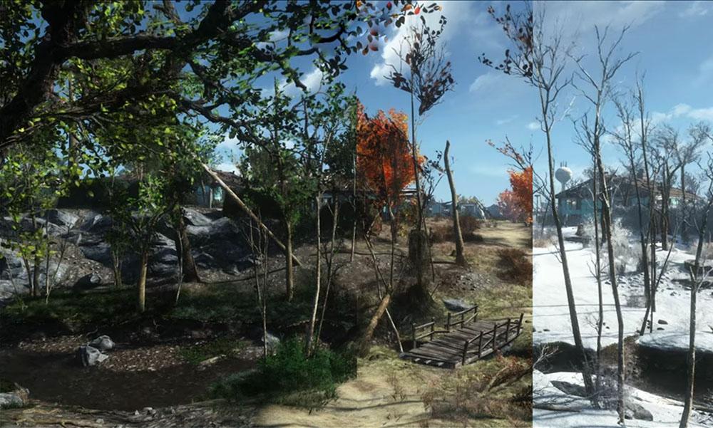 Un mod incluye las cuatro estaciones al universo de Fallout 4