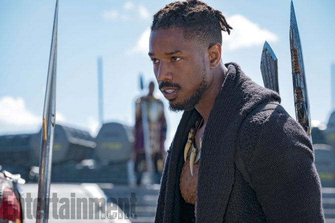 Marvel Studios' BLACK PANTHER<br /> Erik Killmonger (Michael B. Jordan)<br /><br /> Credit: Matt Kennedy/©Marvel Studios 2018