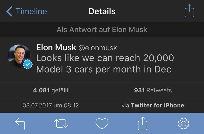 Tesla Model 3: Die ersten Autos werden an Kunden übergeben