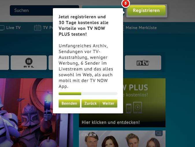TV Now: RTL-Gruppe räumt Mediathek um und macht mobile Nutzer zu Abonnenten