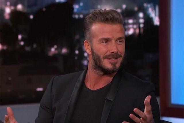 david beckham on jimmy kimmel