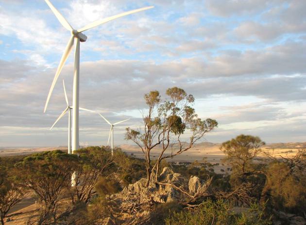 Wind farm in Waterloo