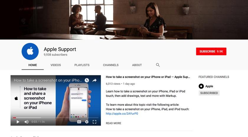 Apple startet neuen YouTube-Kanal