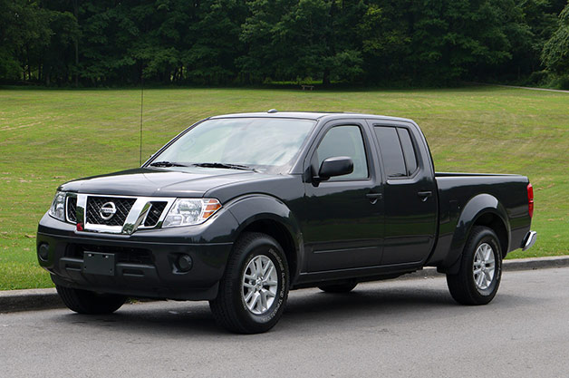 2014 Nissan Frontier mule with Cummins diesel engine - front three-quarter view