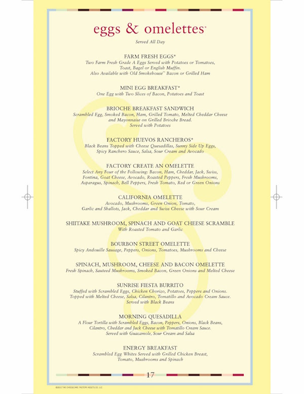 Is the Cheesecake Factory Menu Too Long?