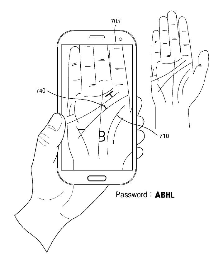 Samsung patenta un sistema de contraseñas basado en la palma de la mano