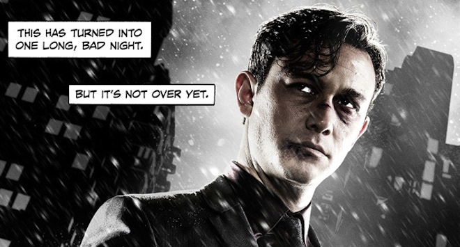 sin city poster 612x380 Joseph Gordon Levitts Look Could Kill on Sin City: A Dame to Kill For Poster