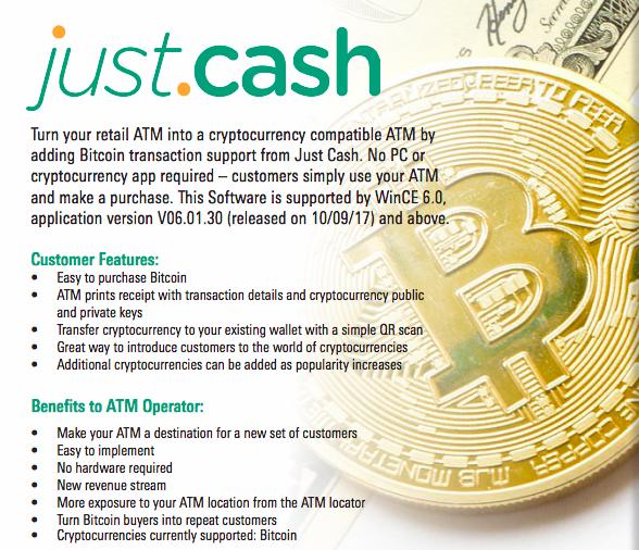 Geldautomaten mit Bitcoin-Support