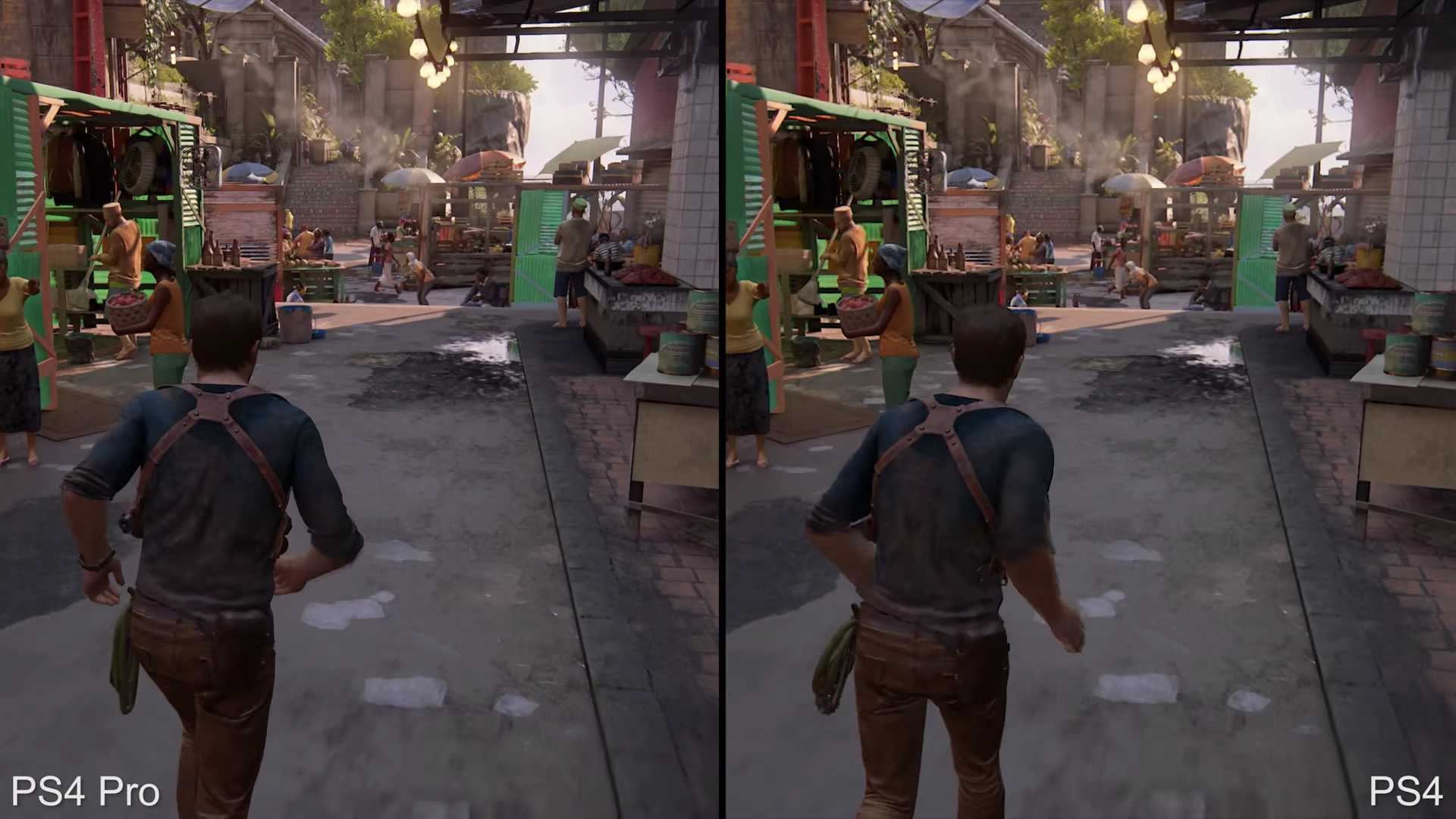 ps4 pro vs ps4 graphics comparison check out these gifs