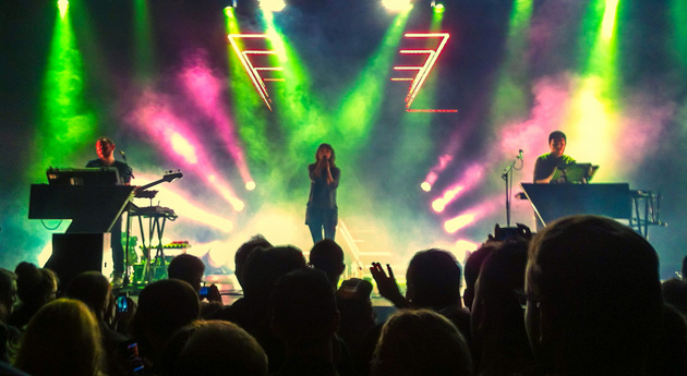 Chvrches concert at Columbiahalle in March 2014