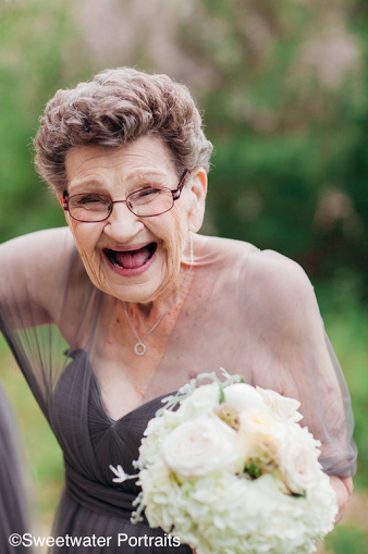 Bride makes adorable 89-year-old grandmother one of her bridesmaids