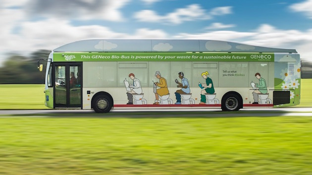 Britain's first 'poo bus' hits the...