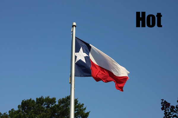 50 words for 50 states, texas hot