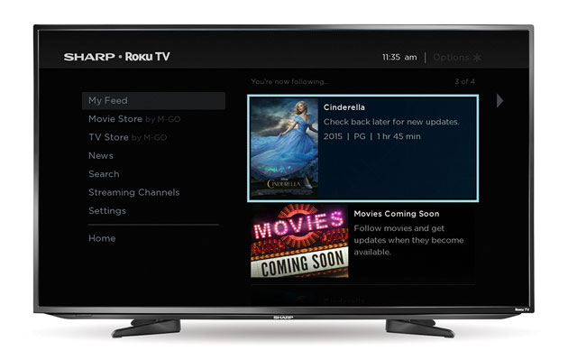 Sharp will start making HDTVs with Roku built-in
