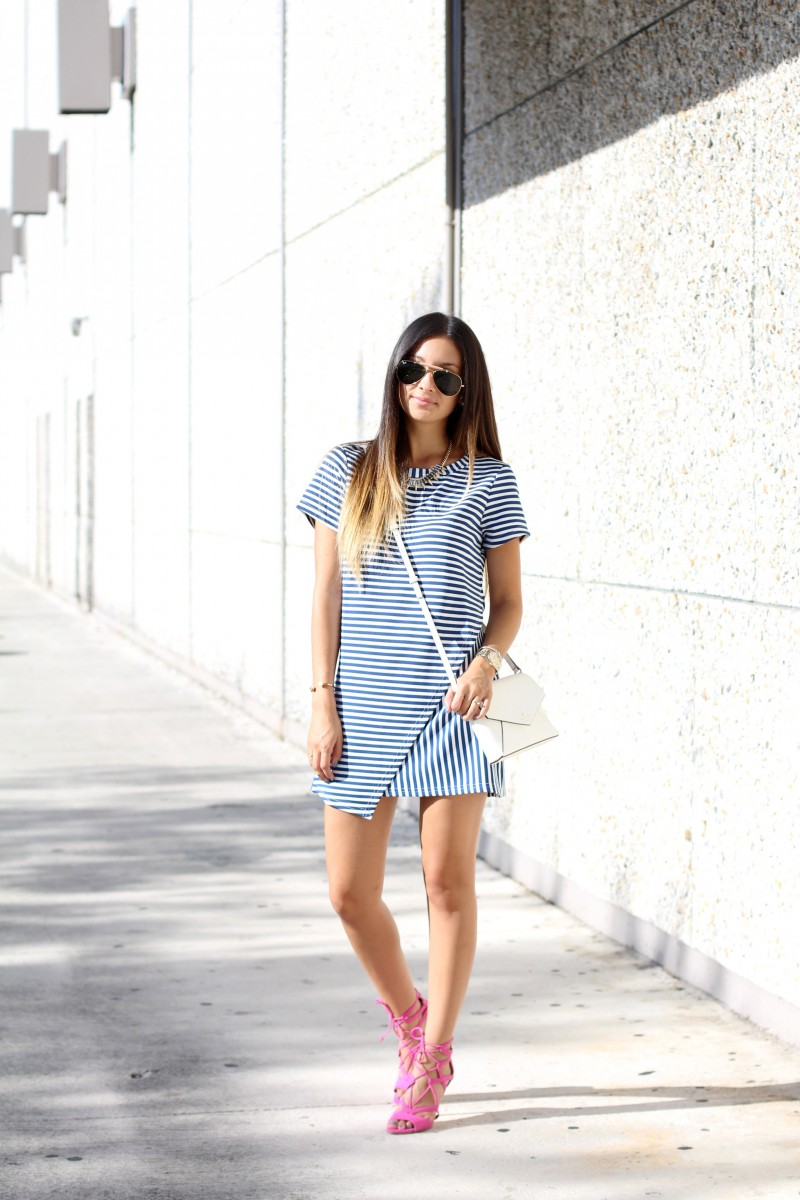 Street style tip of the day: Dressed up stripes