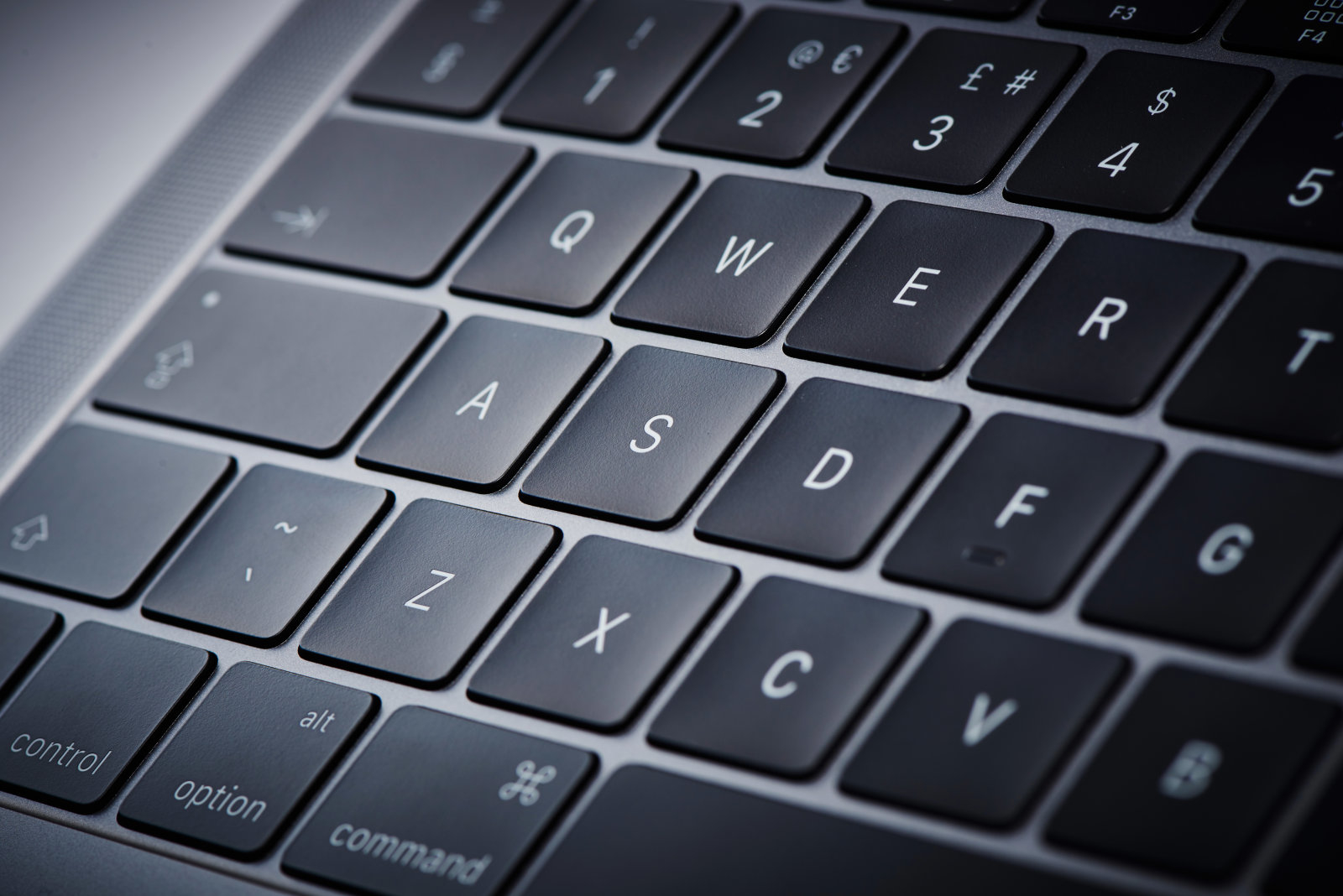 Detail of the keyboard on an Apple MacBook Pro 13-inch 2GHz laptop computer, taken on November 10, 2016. (Photo by Joby Sessions/MacLife Magazine via Getty Images)