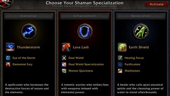 Shaman specializations