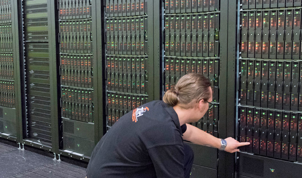 A German supercomputer