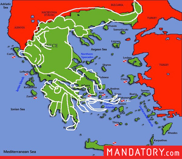 countries that look like pop culture references, funny country outlines, greece the grinch max
