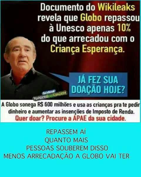 Depois de Ratinho, SBT divulga evento da Globo na internet