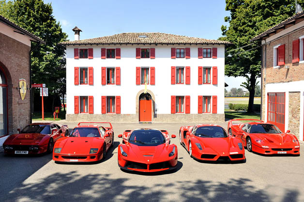 Ferrari 288 GTO, F40, LaFerrari, Enzo and F50