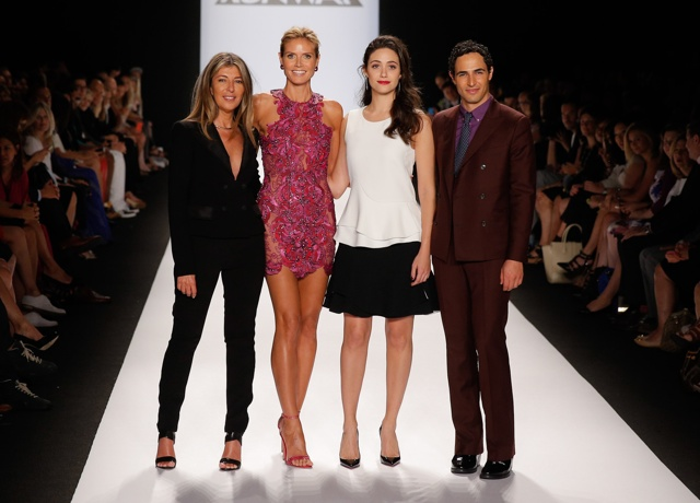 Heidi  Klum wows at Project Runway show during New York Fashion Week