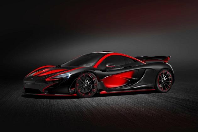 まるで悪魔のようなボディ・カラーで仕上げられた「マクラーレン P1」特注モデル