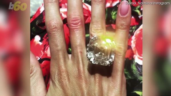 ロシアの億万長者が妻に70カラットのダイヤの指輪をプレゼント!