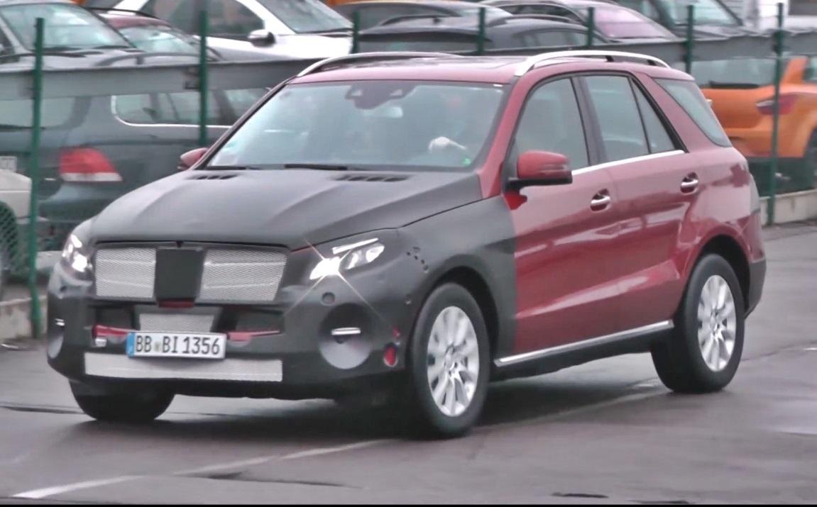 w166, w 166, Mercedes-Benz, Mercedes-Benz M-Klasse, Erlkönig, Video, Facelift, Mercedes-Benz GLE
