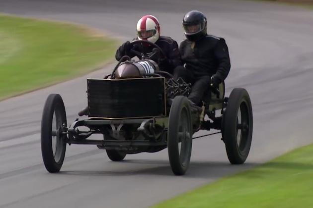 【ビデオ】110年前に作られた「ダラック200」が、グッドウッドのコースを激走!
