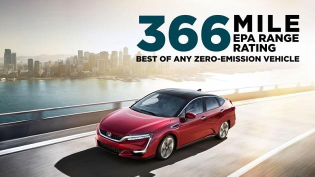 ホンダ「クラリティ フューエル セル」、EPA航続距離はゼロエミッション車最長の590kmを達成!