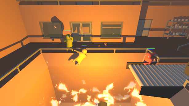 Burn, crush your jelly pals in Gang Beasts from Double Fine